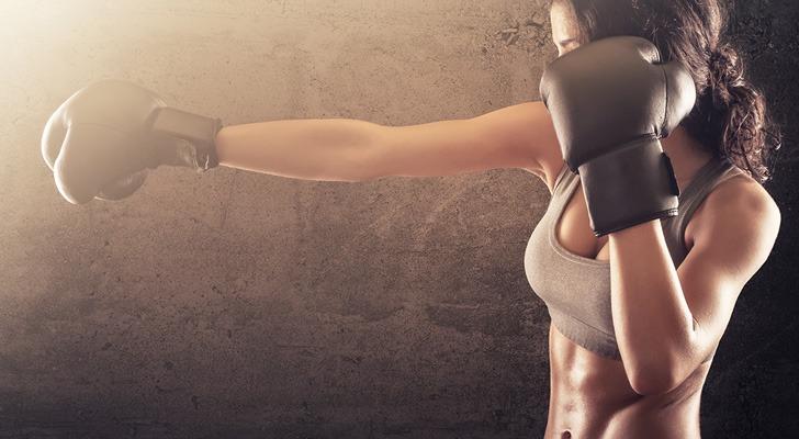 Fierce fighting woman